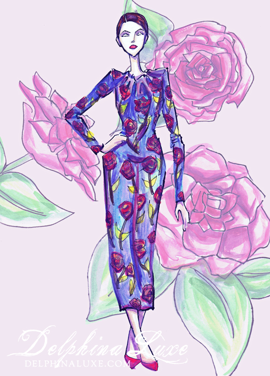 Rose fashion illustration
