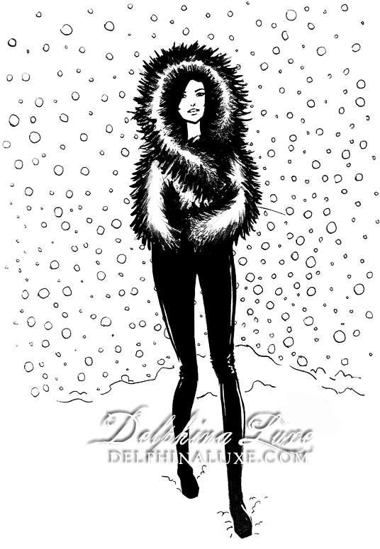 Fashion Illustration - furcoat-and-snow